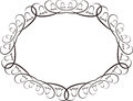 Decorative oval frame illustration Royalty Free Stock Image