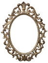 Decorative oval picture frame Royalty Free Stock Photos