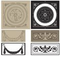 Decorative pane set vector illustration of classic architectural elements panels Stock Images