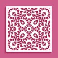 Cutout paper ornament, lace pattern