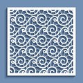 Cutout paper panel with wavy lace pattern
