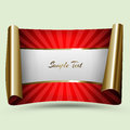 Decorative paper red with gold curled edges Royalty Free Stock Image