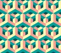 Original geometric magic honeycomb pattern