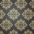 Decorative pattern based on elements in line art style Royalty Free Stock Image