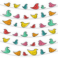 Decorative pattern with birds Stock Photos