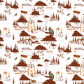 Decorative pattern illustration like a kids drawning Royalty Free Stock Photos