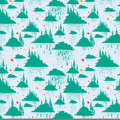 Decorative pattern illustration like a kids drawning eps Stock Photography