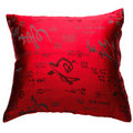 Decorative pillow red color isolated on the white Stock Photos