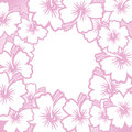 Decorative pink floral frame Stock Image