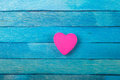 Decorative Pink Heart On Blue ...