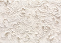 Decorative plaster texture, flower pattern Royalty Free Stock Photo