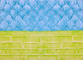 Decorative plaster on the wall, abstract background, imitation of scale, bricks Royalty Free Stock Photo