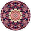 Decorative plate with flower - mandala. Round rug in ethnic style Royalty Free Stock Photo