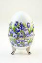 Decorative porcelain egg floral painted Royalty Free Stock Image