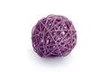 Decorative purple tangle isolated on white background Royalty Free Stock Photos