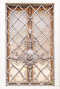 Decorative railing window with in old style Stock Image