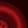 Decorative red frame with vintage round patterns Royalty Free Stock Photo