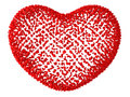 Decorative red love hear Royalty Free Stock Image