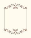 Decorative retro frames .Well built for easy editing.Vector illustration.