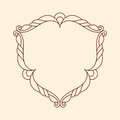 Decorative retro frames .Well built for easy editing.Vector illustration. Brown .