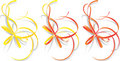 Decorative ribbons, vector  Royalty Free Stock Photo