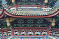 Decorative roof and eave in Buddhism temple, China Stock Image