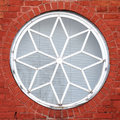 Decorative round window Royalty Free Stock Photo