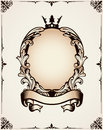 Decorative royal frame for design and use in design Royalty Free Stock Photography
