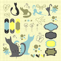 Decorative scrapbook elements set Royalty Free Stock Image