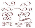 Decorative scrolls Stock Image