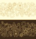 Decorative seamless border with snowflakes Royalty Free Stock Photo