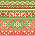 Decorative seamless borders set from four different ornaments Royalty Free Stock Images