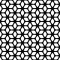 Decorative Seamless Floral Geometric Black & White Pattern Background