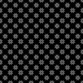 Decorative Seamless Floral Geometric Black & White Pattern Background Royalty Free Stock Photo
