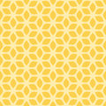 Decorative Seamless Floral Geometric Yellow Pattern Background Royalty Free Stock Photo