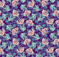 Decorative seamless floral pattern Royalty Free Stock Photo
