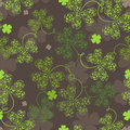 Decorative seamless with green trefoil Royalty Free Stock Photos