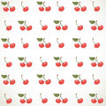 Decorative seamless ornament of cherries on white background Royalty Free Stock Photo