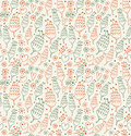 Decorative seamless pattern with flowers and hearts endless beauty background for prints textile scrapbooking covers Royalty Free Stock Images