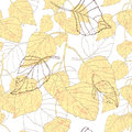 Decorative seamless pattern with leaves birch Royalty Free Stock Photography