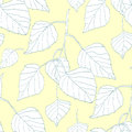 Decorative seamless pattern with leaves birch Royalty Free Stock Photo