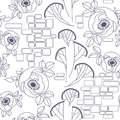 Decorative seamless pattern with roses Royalty Free Stock Photos
