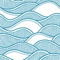 Decorative seamless pattern. Vector illustration with abstract waves or dunes.