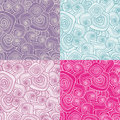 Decorative seamless patterns Royalty Free Stock Photo
