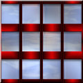 Decorative set of windows Stock Image