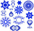 Decorative Shapes Icons - Blue Stock Image