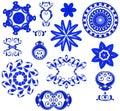 Decorative Shapes Icons - Blue