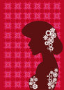 Decorative silhouette of girl Royalty Free Stock Images