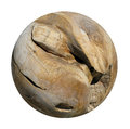 A Decorative Smooth Round Wooden Root Ball.