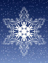 Decorative Snowflake Ornament Vector Royalty Free Stock Photo